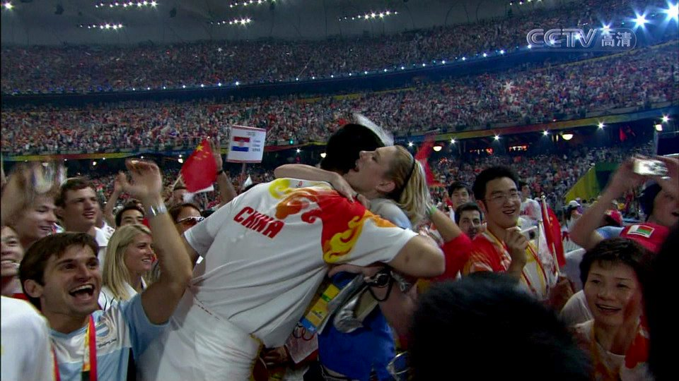 During the 2008 Beijing Olympics Closing Ceremony, many Chinese witnessed Yao Ming and Lauren Jackson hugging each other, leading them to speculate reasons why.