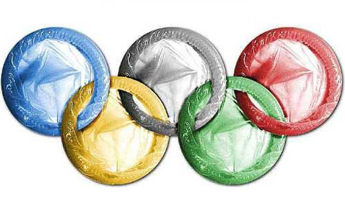 Olympic rings condoms