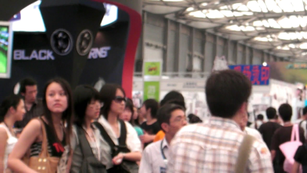 The infamous Shanghai Metro Line 2 lesbians are spotted a week later at the 2008 ChinaJoy video game expo show by an observant show-goer.