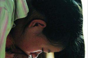Sad Chinese girl.