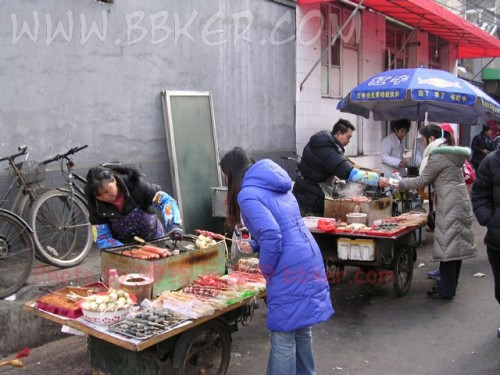 A food stall in Beijing.