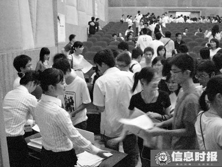 Chinese graduate students applying to sell pork for a Guangzhou company.