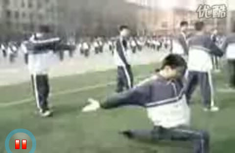 Two videos of Chinese schoolboys who are either being silly or are taking group broadcast exercises (that all students must do in China) too seriously. Funny.