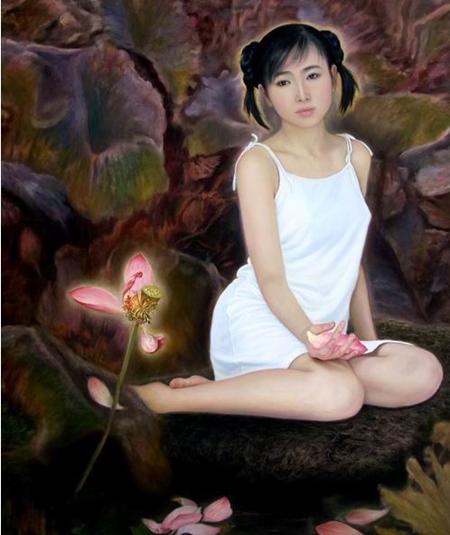 Chinese artist Li Zhuangping's paintings of his daughter, many of which are nude paintings.
