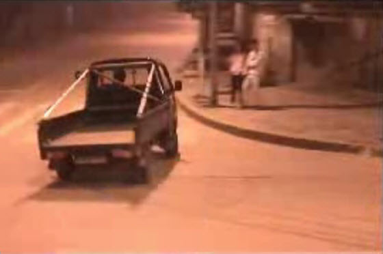 A video of a young Chinese man drifting his small, lousy Changan cargo delivery truck in China. Fans of Initial D will recognize some scenes & background music.