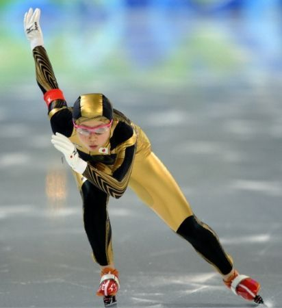 Speed skater Miho Takagi from Japan at 2010 Vancouver Winter Olympics