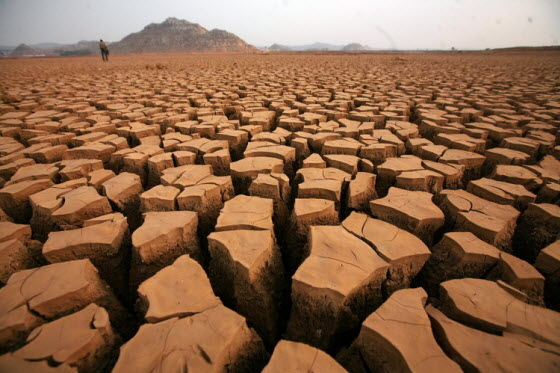 Serious drought in Yunnan, China.