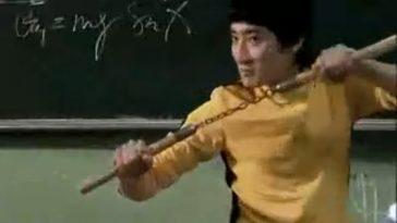 """Lenovo """"Spicy Teacher"""" commercial - teacher dresses like Bruce Lee."""