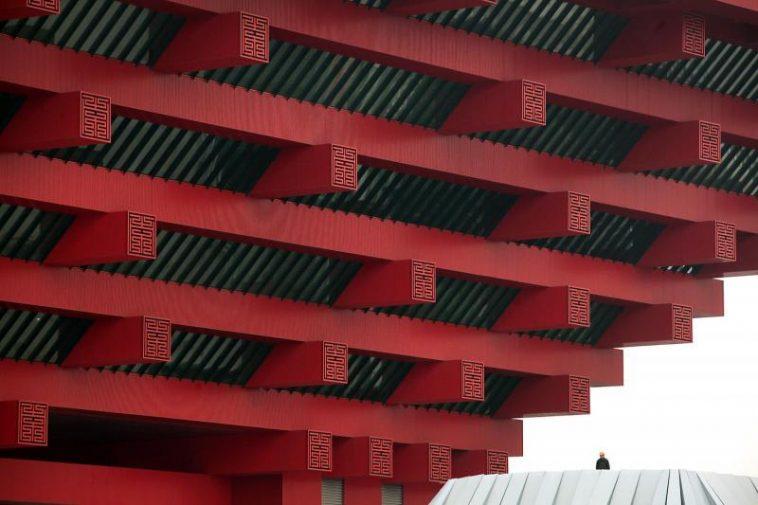 China Pavilion for 2010 Shanghai World Expo - close up.