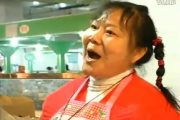 China wet market singing auntie sings Christian songs.