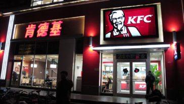 A KFC in China.