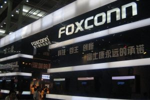 A Foxconn exhibition booth.
