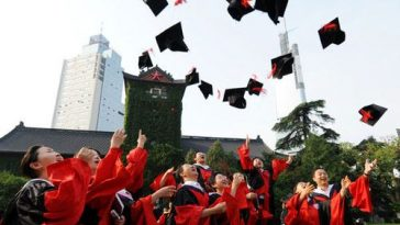 Chinese PhD graduation.
