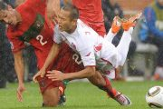 Jong Tae-Se in 2010 World Cup match against Portugal.