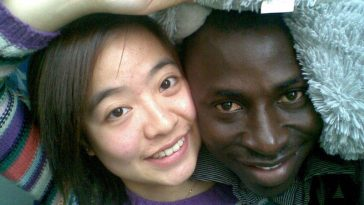 A cute Chinese and black couple.