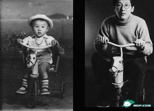 Chinese people then and now.