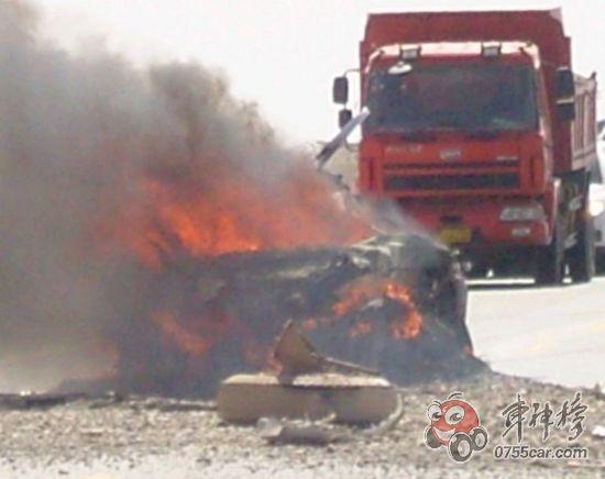 Shanghai Volkswagen Tiguan speed test accident in Gansu, China.