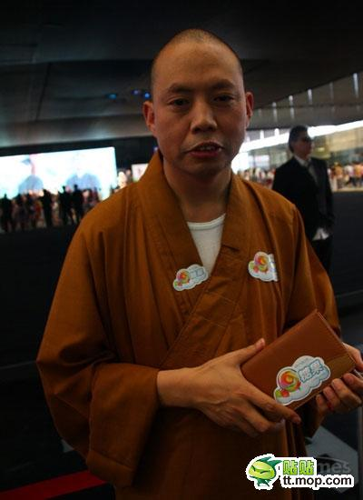Every head monk should not be without his endorsement stickers emblazoned upon his chest