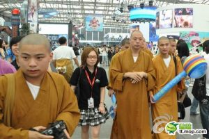 Monks at the 2010 ChinaJoy Expo in Shanghai.