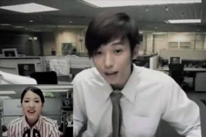 Funny Taiwanese commercial of a boyfriend working overtime having a video chat with his girlfriend.