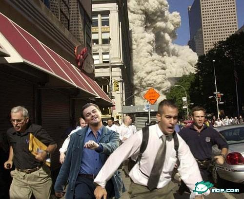 "Leonardo DiCaprio ""strutting"" photoshop: 9/11"