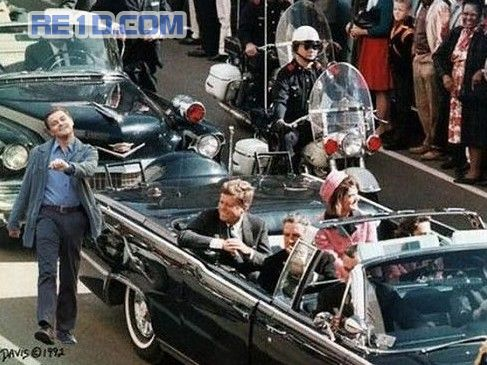"Leonardo DiCaprio ""strutting"" photoshop: JFK Assasination."