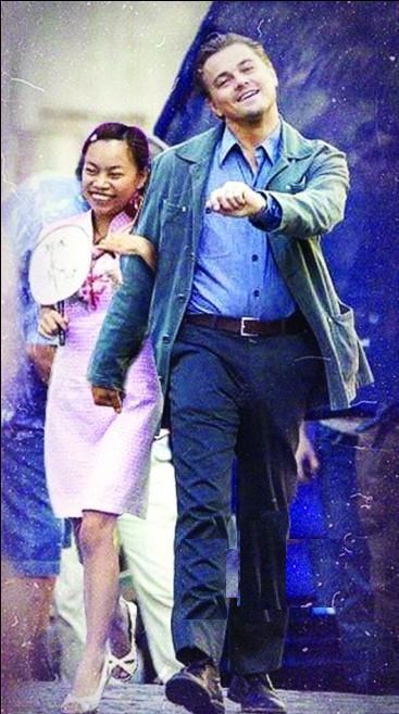 "Inception Leonardo DiCaprio ""strutting"" photoshop: Sister Feng."