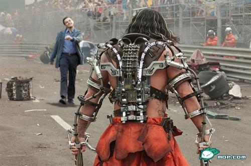 "Leonardo DiCaprio ""strutting"" photoshop: Iron Man 2."