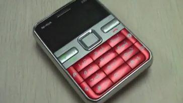 N-kia E68, a shanzhai Nokia mobile phone created in China.