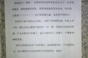 A letter from one Chinese neighbor to another concerning the amount of noise being made during sex at night.