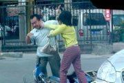 Fuzhou woman beats man after minor traffic accident.