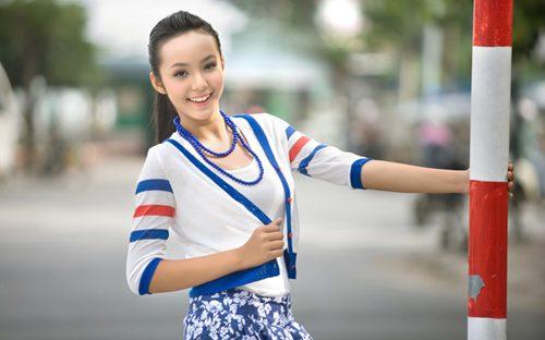Goang Bao Tran Le, 12-year-old Vietnamese model.