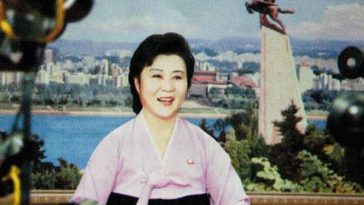 North Korean anchorwoman Ri Chun Hee.