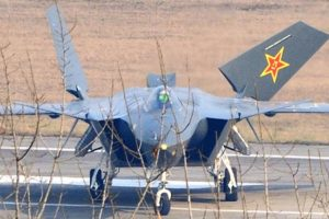 China's new J-20 stealth fighter jet.