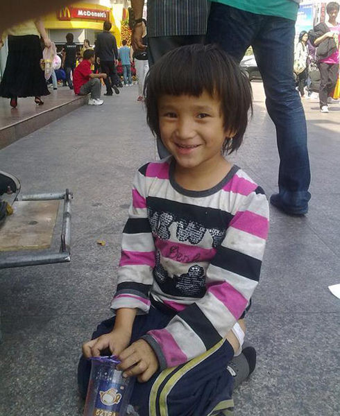 She said her name is Zhang Feiyan, from Choukou of Henan province, 6-years-old.