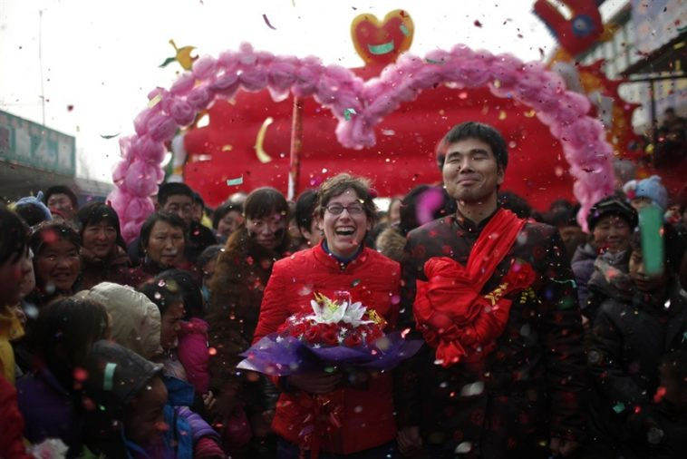 Rebecca Kanthor and Liu Jian's traditional rural wedding in Henan, China.
