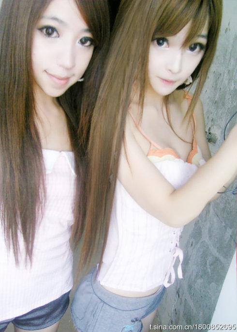 Wang Jiayun and a friend.