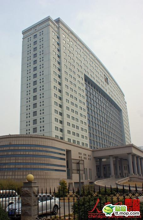 A Chinese government building in Luoyang city of Henan, China.