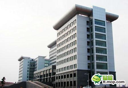 A Chinese government building in Shangrao city of Jiangxi, China.