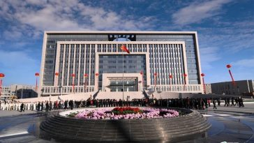 A Chinese government building in Tangshan.