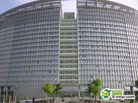 A Chinese government building in Nantong city of Jiangsu, China.