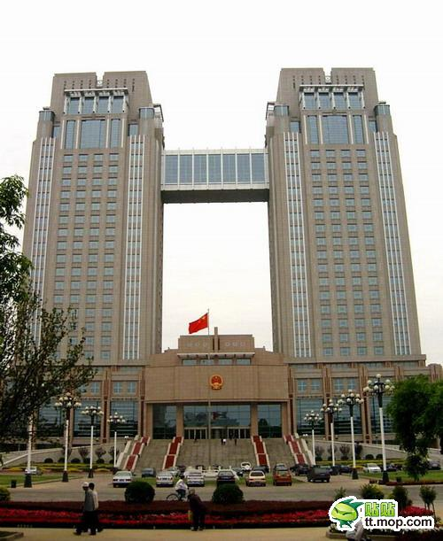 A Chinese government building in Honghe city of Yunnan, China.