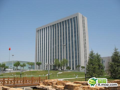 A Chinese government building in Sishui county of Shandong, China.
