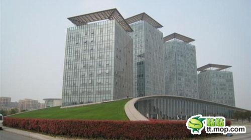 A Chinese government building in Changxing county of Huzhou city of Zhejiang, China.