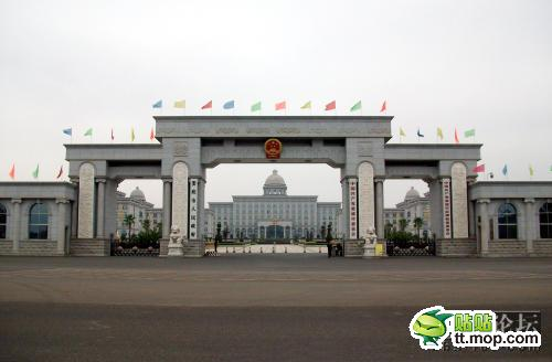 A Chinese government building in Loudi city of Hunan, China.