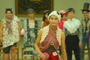 Chinese schoolboys at a university in China cross-dress as girls and put on a fashion show for Girl's Day.