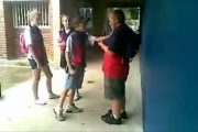 In Australia, a skinny kid (Ritchard Gale) bullies a fat kid (Casey Heynes).