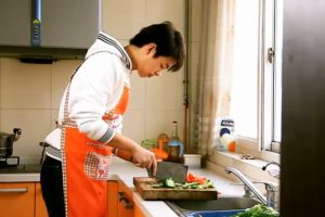 """Heaven's Lunch"", a short film by Hebei university student Liu Xiaoyu entered in the Beijing College Student Film Festival."