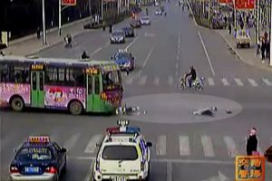 A collection of traffic accidents caught on surveillance cameras at intersections in Heze city, Shandong province, China.