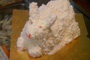 A frightening white rabbit cake.